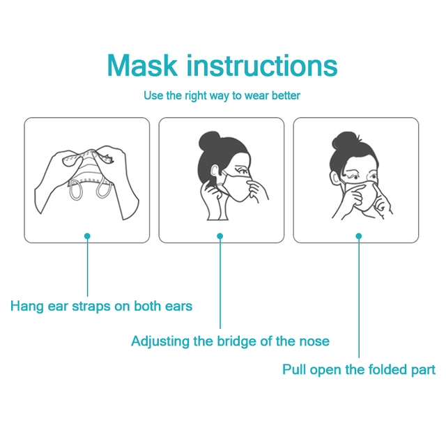 10/20/50/100 PCS Fast Shipping 3-Layer Disposable Face Mask Anti-Pollution Safety Dust Filter Mask Non-woven Meltblown Masks 4