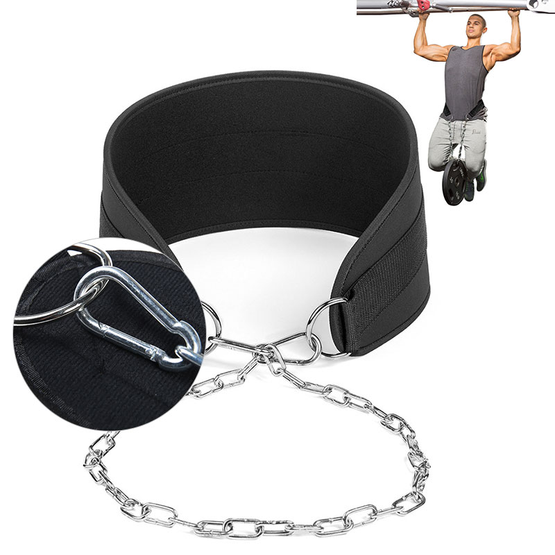 Fitness Training Pull-Up Dipping Belt Body Building Weight Lifting Chain