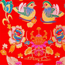 75x100 см две Мандариновые утки дизайн жаккардовая парча полиэстер ткани для китайского свадебного платья