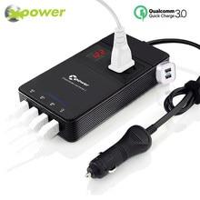 Auto Power Inverter DC 12V zu AC 220V Konverter Adapter Auto QC 3,0 USB Ladegerät Transformator 12 220 230 spannung Inverter