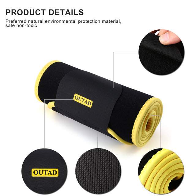 OUTAD Women Waist Trimmer Belt Neoprene Waist Sweat Band for Slimmer Water Weight Loss Mobile Sauna Belts Strengthen Tummy 4
