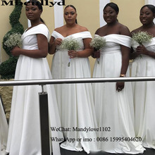 Mbcullyd Elegant White African Bridesmaid Dresses Long Sexy