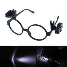 1/2 pçs livro flexível luzes de leitura luz da noite para óculos e ferramentas mini clipe de óculos led universal portátil lâmpada de pesca