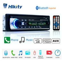 Hikity autoradio 12 v JSD 520 rádio do carro bluetooth 1 din estéreo do carro jogador AUX IN mp3 fm rádio de controle remoto para o telefone áudio do carro