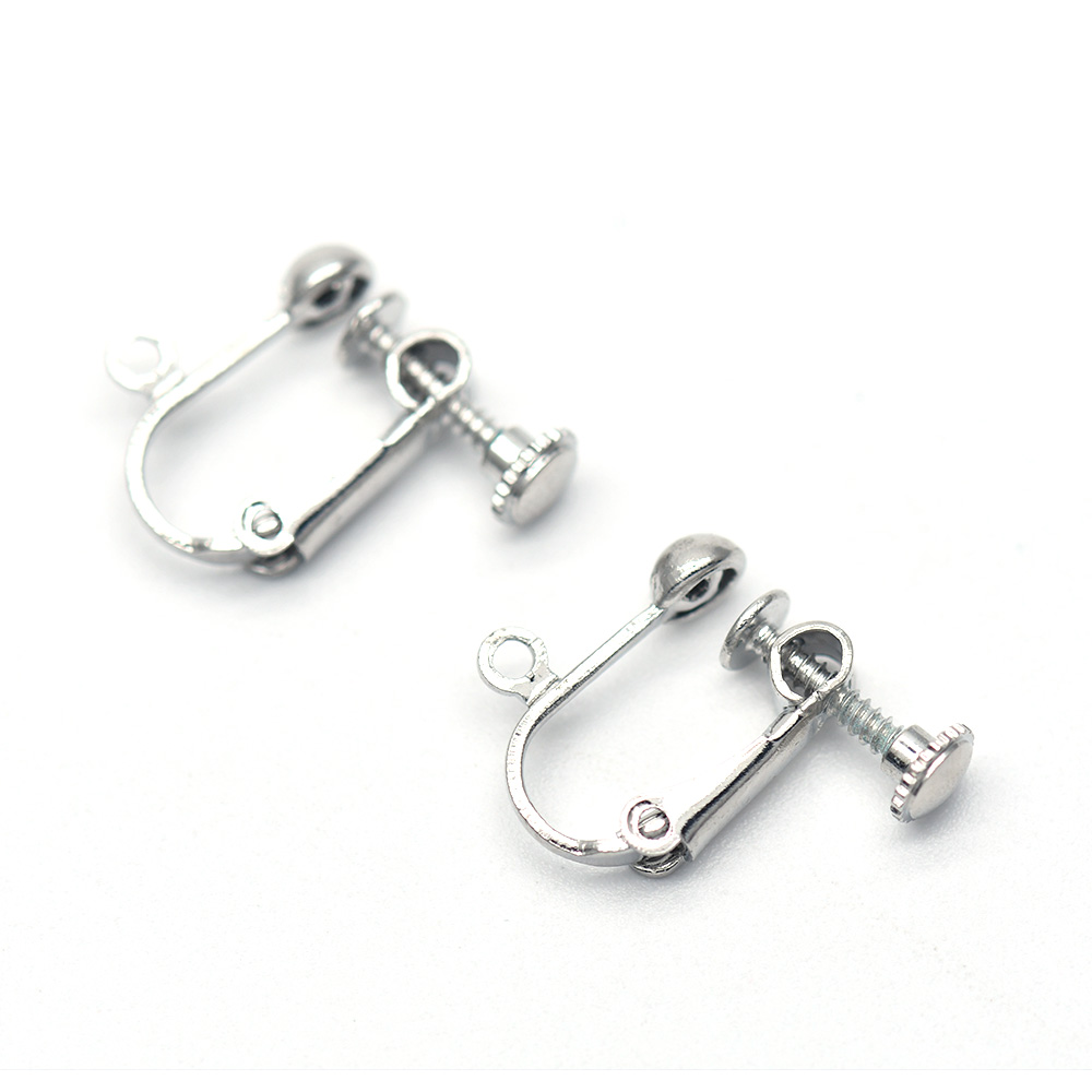 Adjustable Stainless Steel Faux Jewelry Screw Clip on Body Piercing Rings with Metal Chain for 237Gte