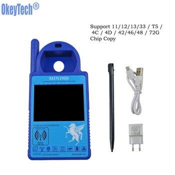 OkeyTech, 100%, versión inglesa genuina, Mini ND900 ID46 ID48 T5 4C 4D G, copia del Chip Cloner, programador de llave de coche, azul ND900