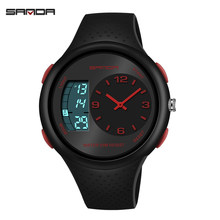 digtal watch men dual display waterproof led watch outdoor sport fashion diving electronic wristwatch Couple black Alarm clock(China)