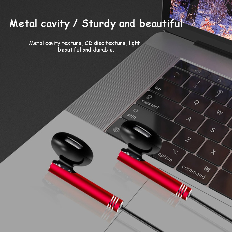 In-ear Earbuds Earphone for Phone Computer MP3 Line Control 3.5mm Wired Headphones with Mic Heavy Bass Headset Sports Earphones