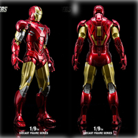 King Arts DFS021 1/9 iron man MK6 Alloy Action Figures Series Diecast Action Figure Gifts for Collective Model Toy