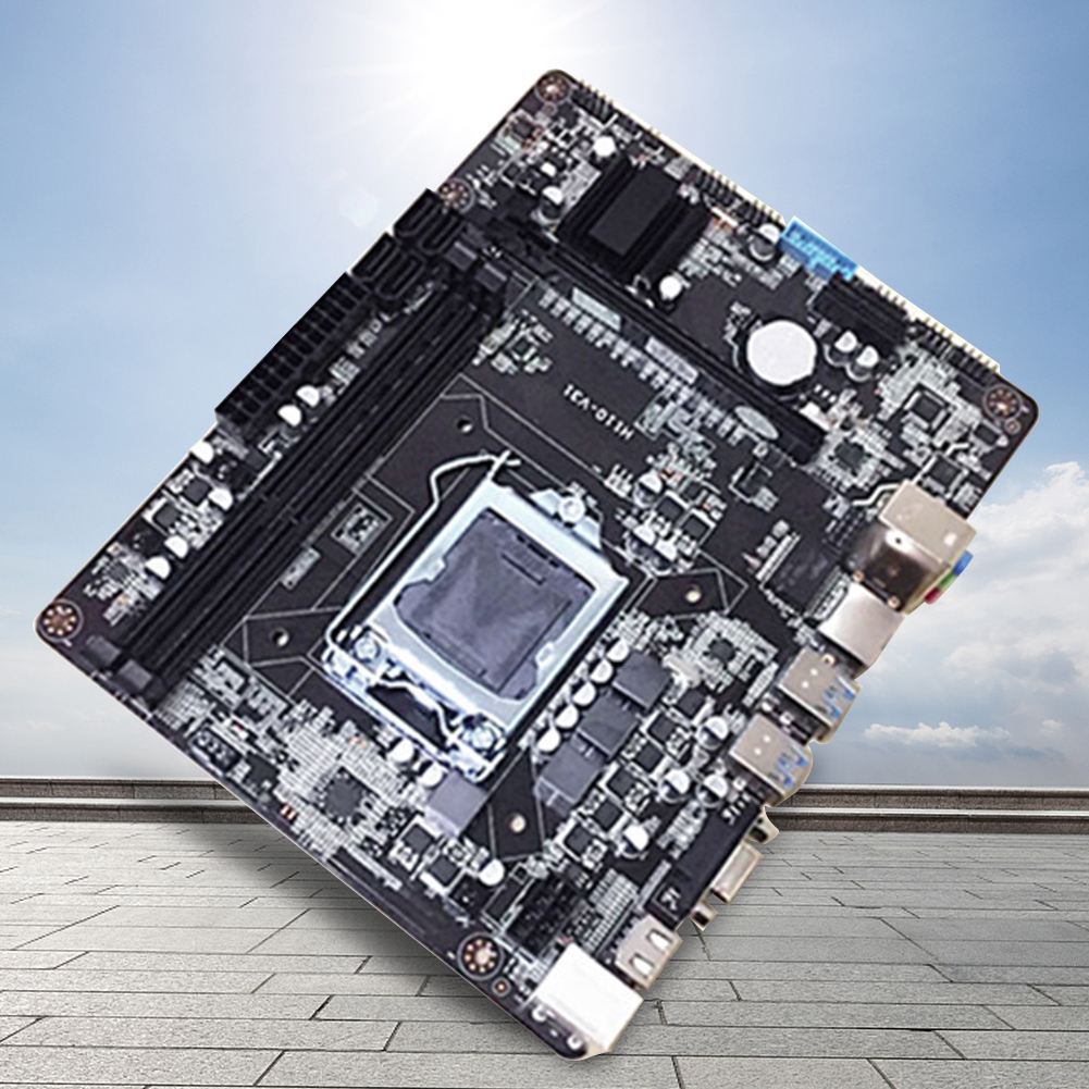 H110 Computer Motherboard Home Desktop DDR3 Heat Dissipation CPU Durable Dual Channel Office Large Memory Capacity Interface