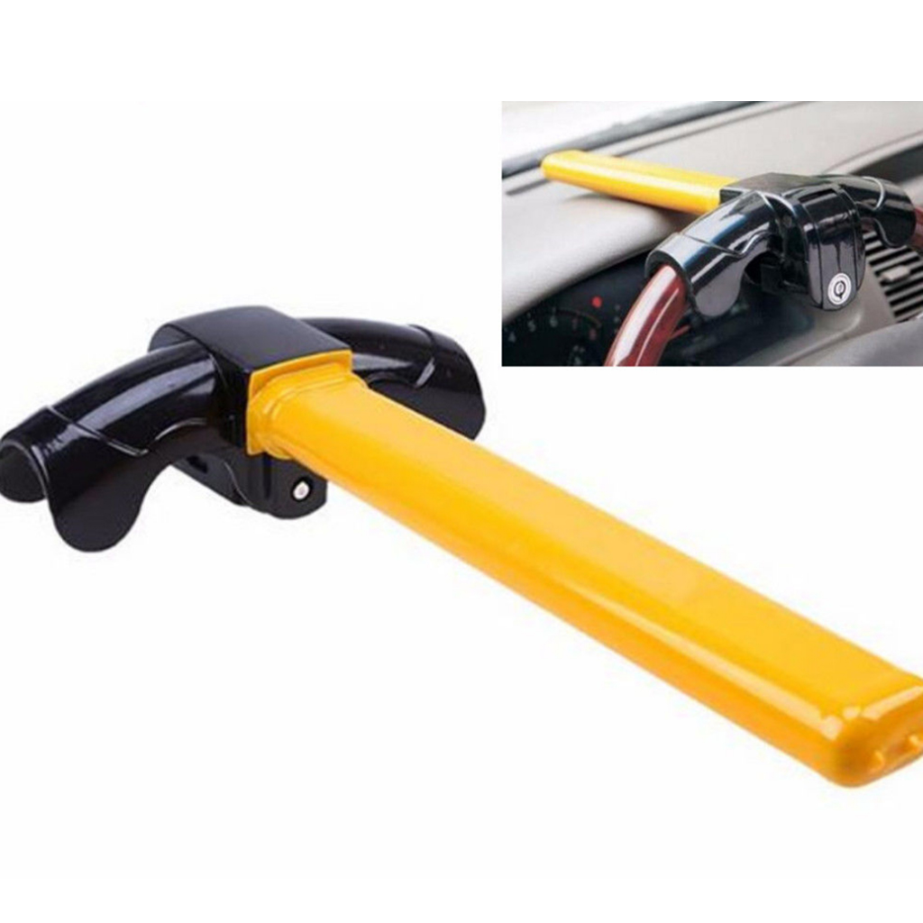 1pc Universal T Style Car Anti Theft Van Security Rotary Steering Wheel Lock A1337 For Car SUV Truck  Auto Aluminum Alloy 36cm