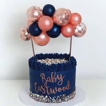Flamingo dekoracje na wierzch tortu weselnego tort urodzinowy ozdobny balon wykaszarki do ciastek dekoracje na tort weselny akcesoria imprezowe