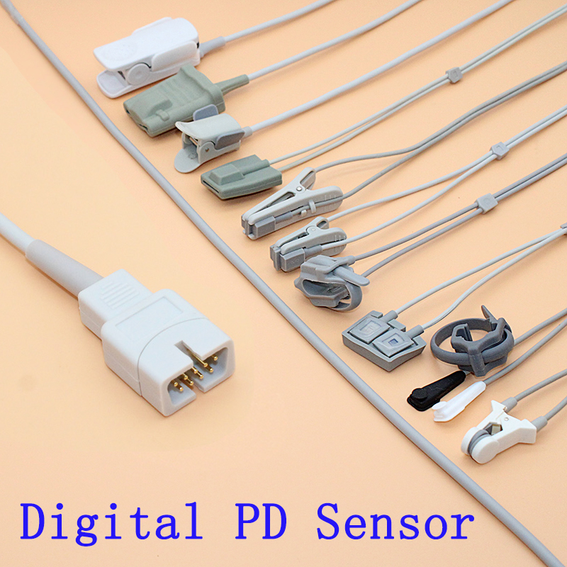 1m Of SpO2 Sensor Cable With Digital PD,For Biocare/Creative/Contec/Jery/GMI/Newtech Patient Monitor.