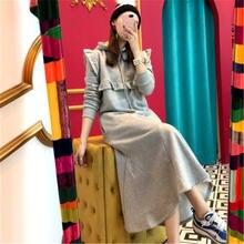 Повседневное платье свитшот для женщин корейское винтажное тонкое