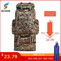 Caliente 100L de gran capacidad de Montañismo al aire libre mochila Camping senderismo militar Molle repelente al agua bolsa táctica ajustable