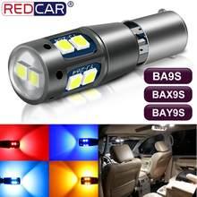 Lâmpada led para farol automotivo, 1 peça, ba9s pro, h21w, bay9s, h6w, t4w, t11, 10smd, 3030 chips, canbus, luzes de apuramento de carro lâmpadas de licença de estacionamento