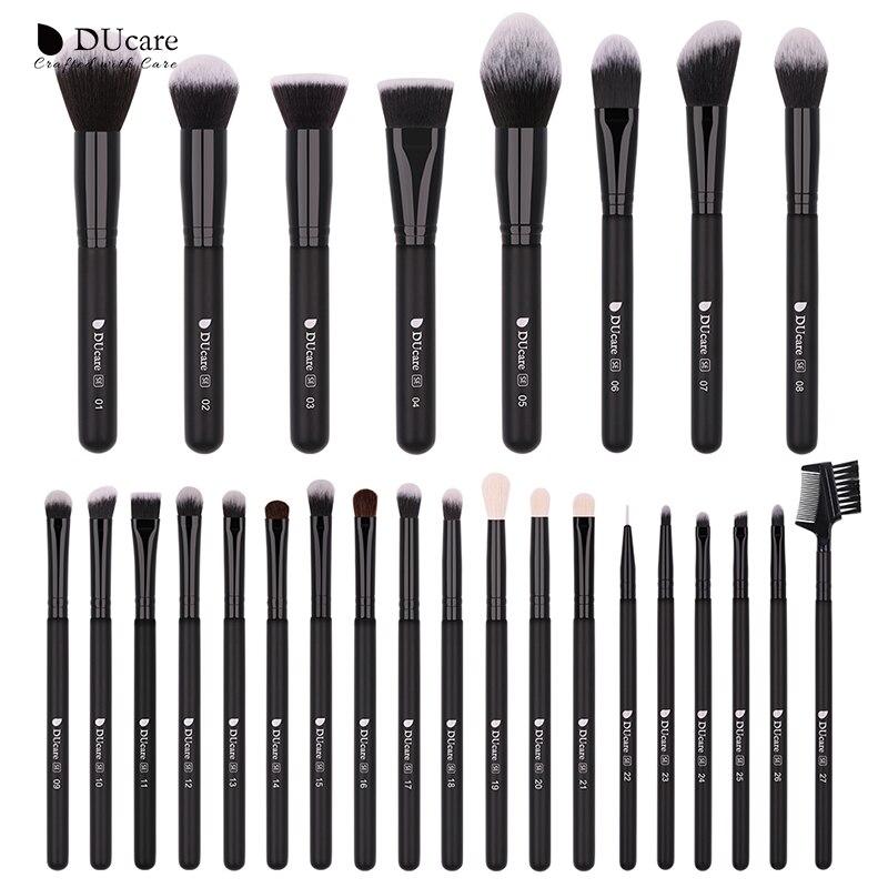 DUcare Professional Makeup Brushes Powder Foundation Eyeshadow Make Up Brushes Set Cosmetic Brushes With Bag Synthetic Goat Hair