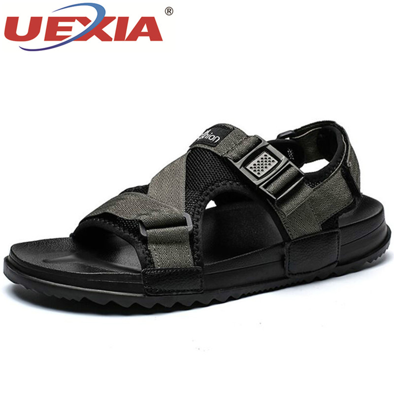 UEXIA Unisex Couple Sandals Men Shoes Summer Beach Gladiator Fashion Outdoor Sandals Shoes Flip Flops Slippers Flat Large Size