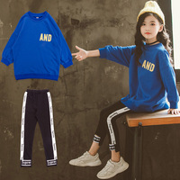 Autumn Toddler Baby Kids Girls Clothes Tracksuit for Girls Long Sleeve Letter Tops + Pants Clothes Set School Season Clothing