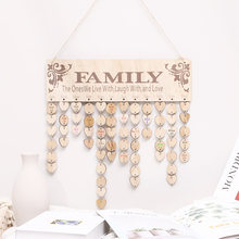 DIY Wooden Crafts Love Circle Calendar Listing Manual Notes Creative Valentine's Day Party Family Home Store Decoration Pendant