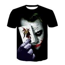 2021 moda 3d impresso camiseta crianças wear coringa rosto tshirts palhaço manga curta moda cosplay t camisa homem/mulher topos