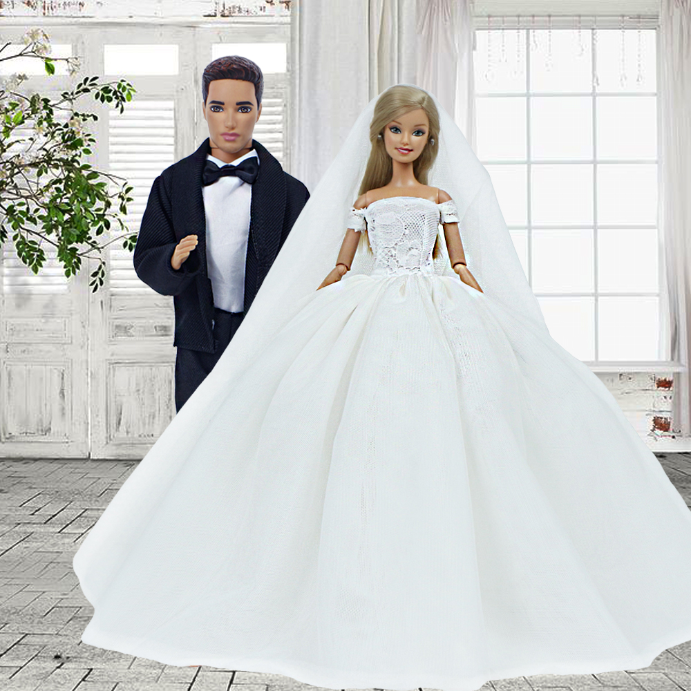 Mix Handmade Dress Doll Bridal Party Princess Gown Wedding Clothes New.