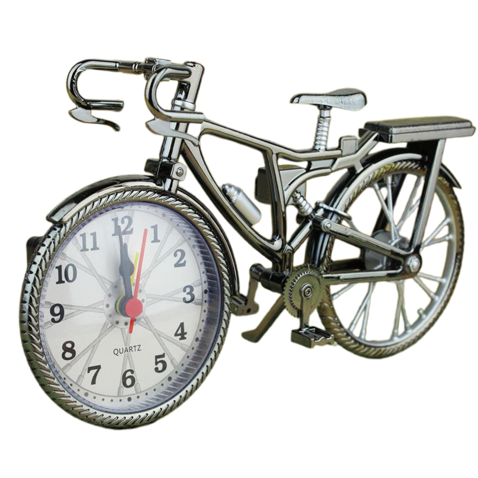 Vintage Arabic Numeral Retro Bicycle Pattern Creative Alarm Clock Home Decor