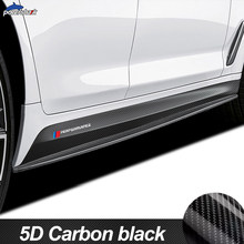 M Lado Desempenho Saia Tarja Adesivo Decalque de Vinil Fibra De Carbono Para BMW F30 F10 E90 G30 G20 E60 F20 F40 F22 F32 F15 Z4 F16 M4