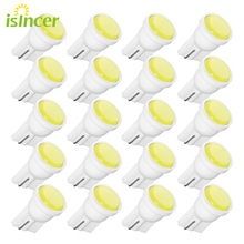 20 adet T10 araba beyaz LED 194 168 SMD W5W kama yan ışık ampüller araba harici boşluk ışıkları Led 12V kama yan ampuller lamba