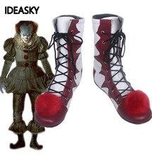 Stephen Kings It pennywise ตัวตลก pennywise ตัวตลกเครื่องแต่งกายฮาโลวีน Mens ผู้หญิงชุดคอสเพลย์รองเท้าที่กำหนดเอง