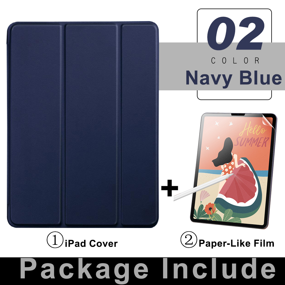 4 Navy Blue Beige For iPad Pro 11 Flip Tablet Case 2021 Stand Smart Cover Funda For iPad pro 11