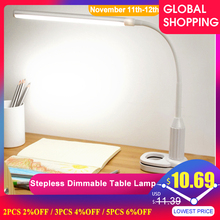 5W 24 LEDs göz korumak masa lambası kademesiz kısılabilir bükülebilir USB Powered dokunmatik sensör kontrol LED masa lambası настольная лампа