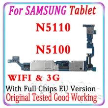 Ücretsiz kargo Samsung Galaxy not için orijinal 8.0 N5100 N5110 anakart avrupa versiyonu Unlocked anakart cips MB plaka