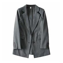Осенний женский костюм куртка модный свободный Женский блейзер
