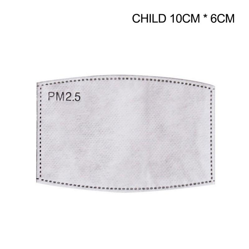 Anti Haze And Dustproof Square Arc Active Carbon Filter Active Carbon PM2.5 Mask Filter Paper Health Care(for Children)