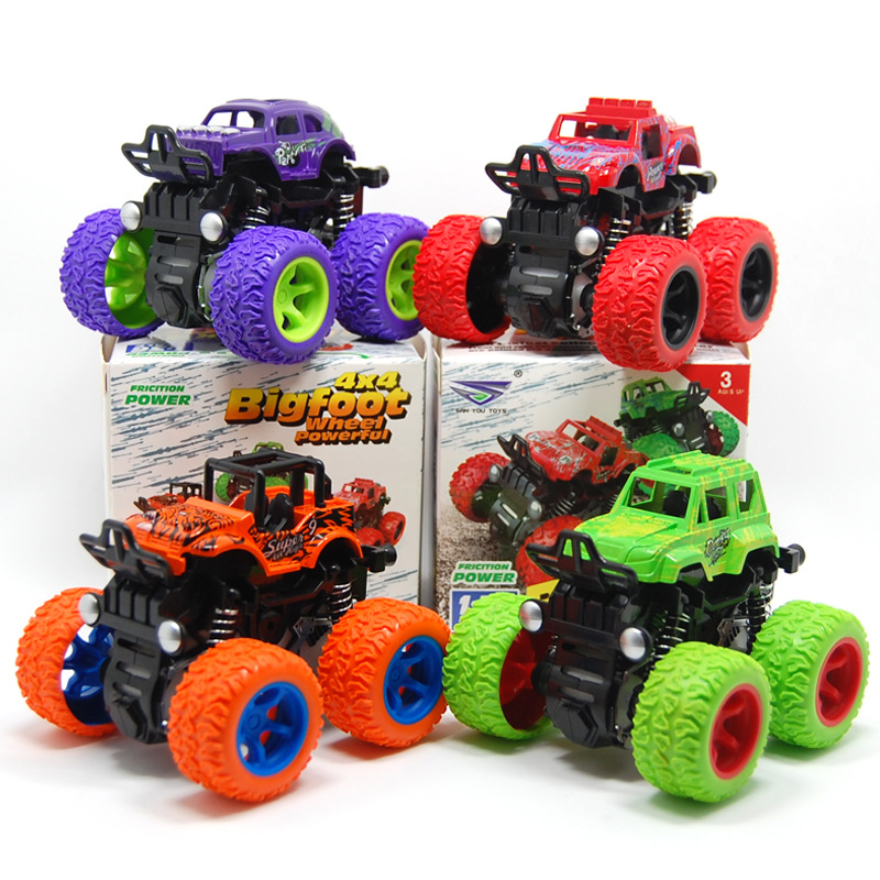 Inertia Four-Wheel-Drive Off-Road/Construction Vehicle Children Simulation Model Car Anti-Shatterproof Toy