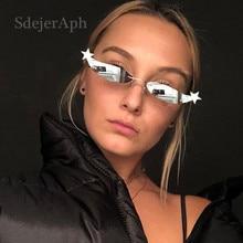 Star Frame Women Sunglasses Oculos Fashion Sexy Small Rimles