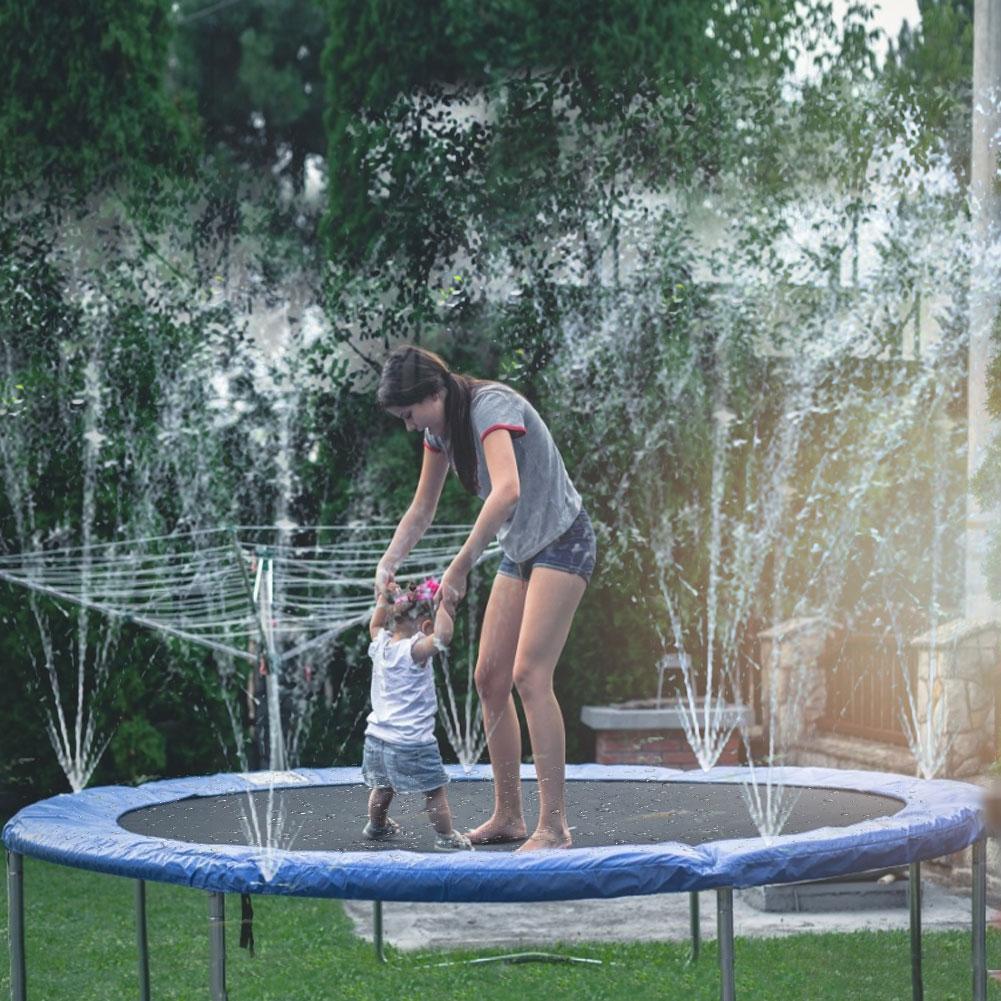 Trampoline Water Sprinkler Trampoline Sprinkler Hose for Kids Boys Girls Outdoor Summer Outdoor Backyard Water Games