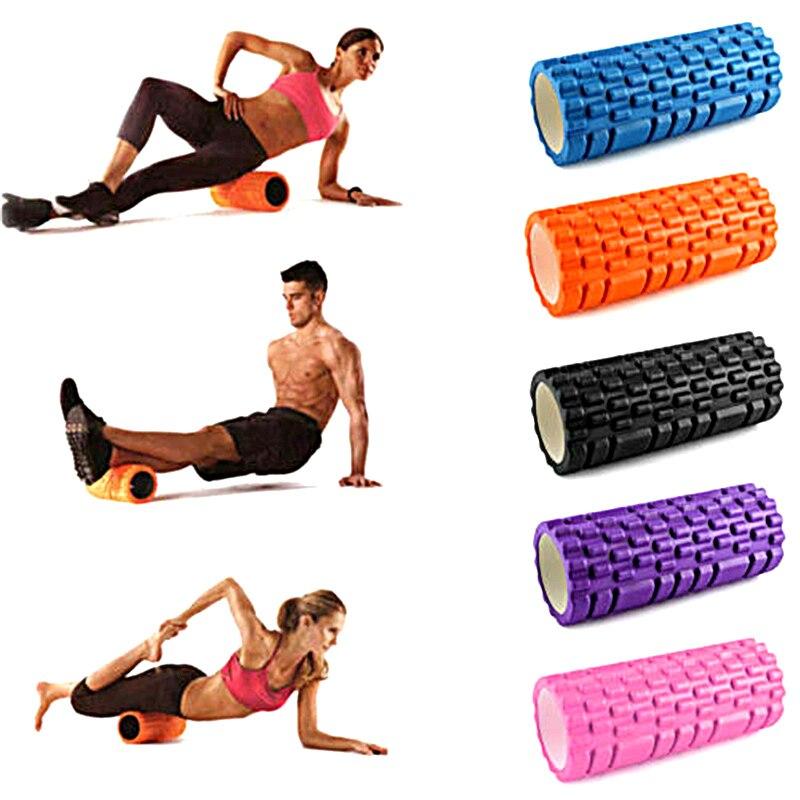 EVA Йога Колонка фитнес Пена Йога ролик для пилатеса блоки поезд тренажерный зал массаж сетка триггер точка терапия физио упражнения