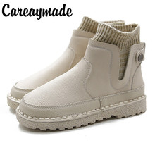Careaymade-New hand crafted short boots, soft bottom comfortable flat and ankle boots,the retro art mori girl Flats boots