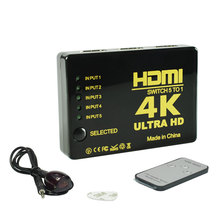 5to1 HDMI Splitter Switch 5 in 1 out HDMI Switcher for XBOX 360 PS4 PS3 Smart Android HDTV HDMI Adapter with IR Remote control цена и фото