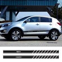 Autocollant de porte latérale de voiture, 2 pièces, pour Kia Sportage 3 4 Rio 3 4 K2 Optima Sorento Picanto Ceed Forte Cadenza K9 Soul, accessoires