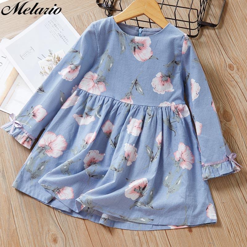 Melario Girls Dresses Fashion Kids Girl Dress Printing Long Sleeve Princess Dress Casual Kids Dresses Floral Innrech Market.com