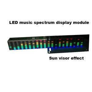 Colorido led music spectrum display analyzer 20 segmentos 10 níveis mp3 pc amplificador de áudio indicador de nível música