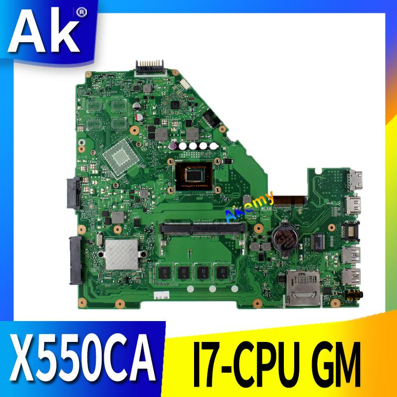 X550CA For ASUS X550 X550C X550CA X550CL Laptop Motherboard X550CA Mainboard I7-CPU GM 100% WORK Test Original Motherboard