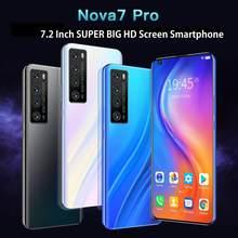7.2 Polegada hd tela grande telefone inteligente cectdigi nova 7 pro android 6.0 2gb ram 16gb rom smartphone desbloqueado duplo sim telefone móvel