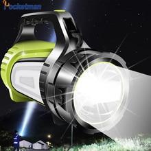 8000lm 80W LED şarj edilebilir ışıldak USB LED el feneri 2 yan gece işığı lambası el kolu spot Ultra uzun bekleme