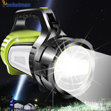 Linterna de búsqueda recargable LED de 8000lm 80W, linterna LED USB, lámpara de luz nocturna de 2 lados, foco de mano Ultra Larga modo de reposo