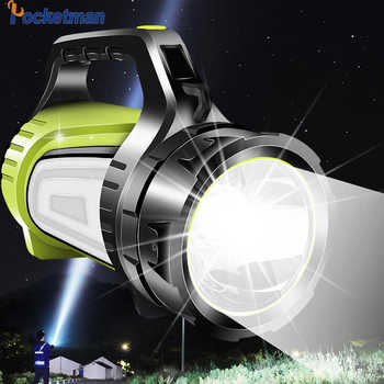 Super bright LED Rechargeable Searchlight USB LED flashlight 2 side night light lamp hand Handle Spotlight Ultra-long Standby - Category 🛒 All Category