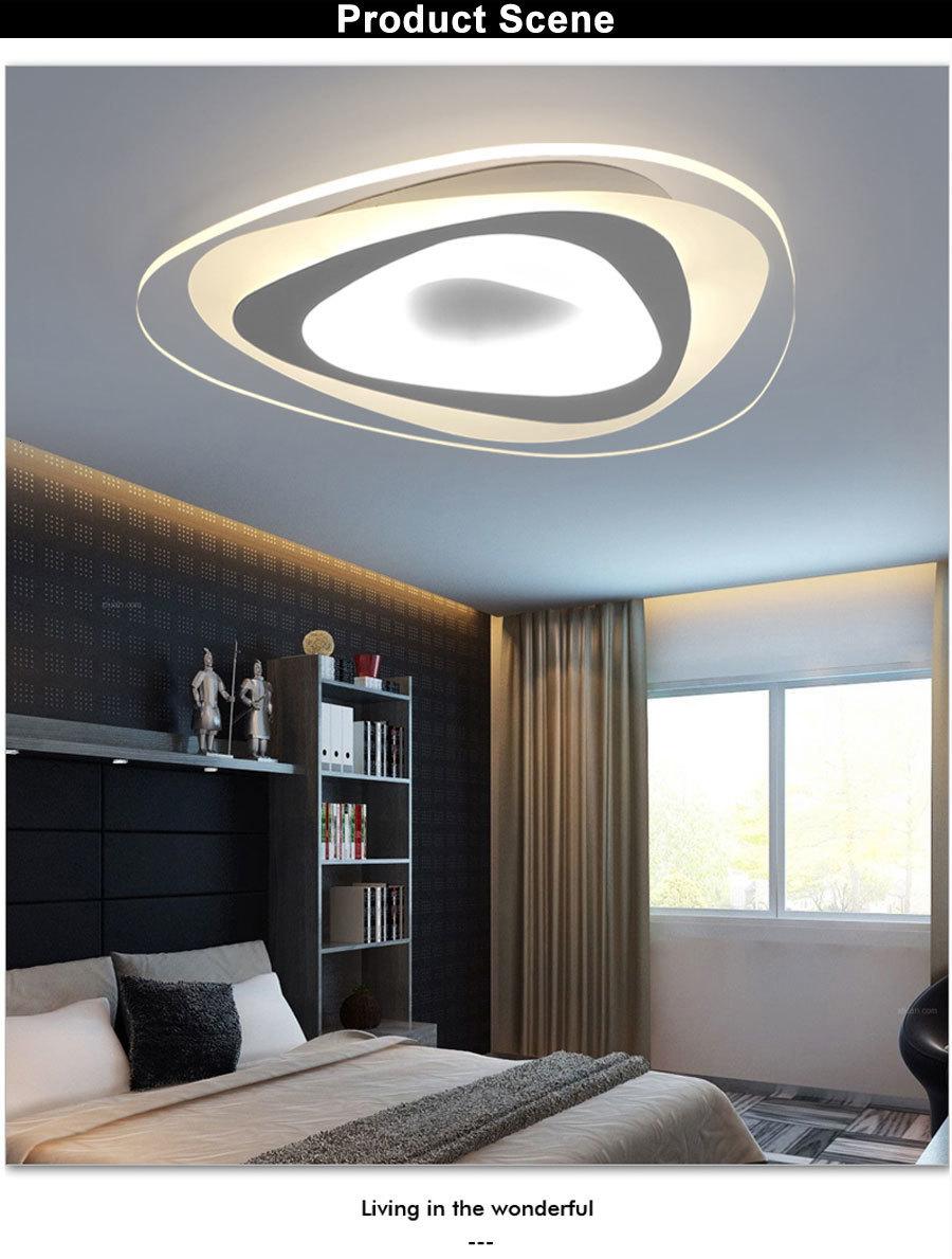 H36705190cabc4d1a9934201c5b9620d7s Ultrathin Triangle Ceiling Lights lamps for living room bedroom lustres de sala home Dec LED Chandelier ceiling